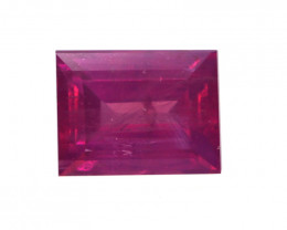0.57cts Natural No Heat Ruby Baguette