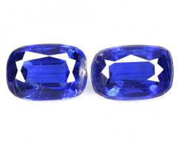 Kyanite 1.43 Cts 2 Pcs Fancy Royal Blue Color Natural Gemstone