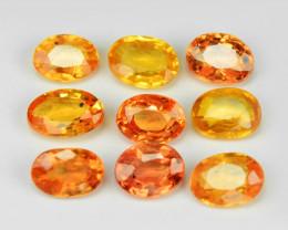 Orange Sapphire 2.06 Cts 9 Pcs Amazing Rare Natural Fancy Loose Gemstone