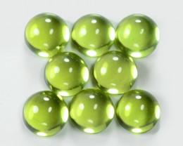 Peridot 5.39 Cts 8 Pcs Green Color Natural Gemstone
