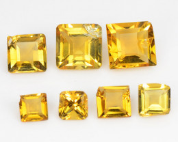 Citrine 2.08 Cts 7 Pcs Fancy Golden Yellow Color Natural Gemstone