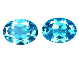 Topaz 2.83 Cts 2 Pcs Blue Natural Gemstones