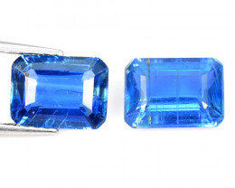 Kyanite 3.59 Cts 2 Pcs Fancy Royal Blue Color Natural Gemstone