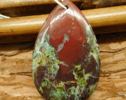 Dragon bloodstone pendant bead (G2645)