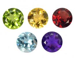 Fancy Gemstones 4.13 Cts 5 Pcs Fancy Mix Color Natural