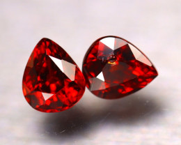 Almandine 2.66Ct 2Pcs Natural Vivid Blood Red Almandine Garnet  E2402/B1
