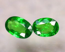 Tsavorite 0.85Ct 2Pcs Natural Vivid Green Color Tsavorite Garnet E2407/B7