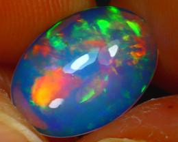 Welo Opal 2.05Ct Natural Ethiopian Blue Base Play of Color Opal E2418/A58