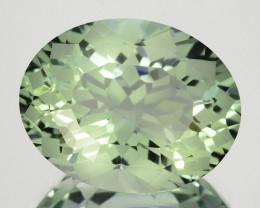 ~CUSTOM CUT~ 4.90 Cts Natural Green Prasiolite / Amethyst Oval Fancy Bra