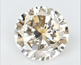 0.50 CTS , Round Brilliant Cut , Light Colored Diamond