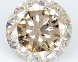 0.46 CTS , Round Brilliant Cut , Light Colored Diamond