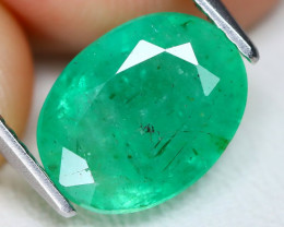 Zambian Emerald 3.09Ct Oval Cut Natural Green Color Emerald C2107