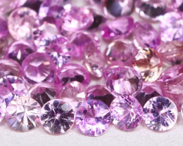 5.01Ct Round 2.6mm Natural Untreated Pink Color Sapphire Lot C2115