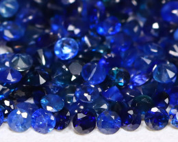 4.46Ct Calibrate 1.4mm Round Natural Blue Color Sapphire Lot C2118