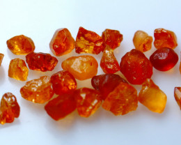 NR!! 26.20 CTs Natural & Unheated~Orange Garnet Rough Lot