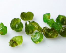 19.10 CT Natural & Unheated~Green Garnet Rough Lot