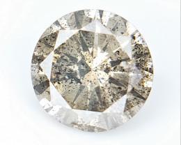 0.60 CTS , Round Brilliant Cut , Light Colored Diamond