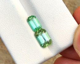 2.10 Ct Natural Green  Transparent Tourmaline Gemstone