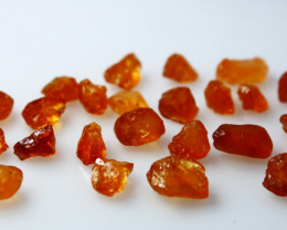 31 CTs Natural & Unheated~Orange Garnet Rough Lot