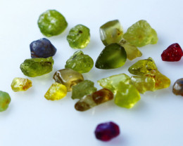 20.80 CTs Natural & Unheated~Multi Sapphire Rough lot