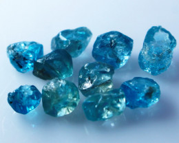 27.30 CTs Natural & Unheated~Blue Zircon Rough Lot