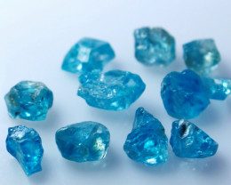 NR!! 30.20 CTs Natural Blue Zircon Rough Lot