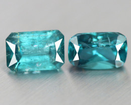 1.630 CT GREEN TOURMALINE NATURAL UNHEATED BLUE  2 PC MOZAMBIQUE