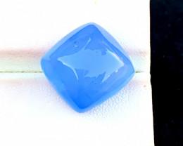 19.85 Carats  Natural Aquamarine Cats Eye Cabochon