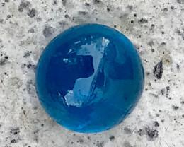 1.380 CT NATURAL UNHEATED ROYAL NEON BLUE COLOR NATURAL APATITE CABOCHON