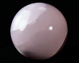 NR!! 428.40 CTs Natural & Unheated~ Pink Calicte Carved Ball