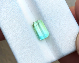 1.80 Ct Natural Greenish Blue Transparent Tourmaline Gemstone
