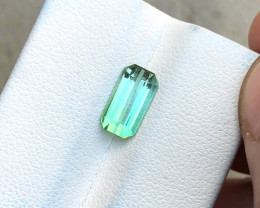 1.60 Ct Natural Greenish Transparent Tourmaline Gemstone