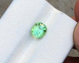1.10 Ct Natural Green Transparent Tourmaline Gemstone