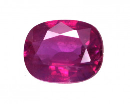 0.61cts Natural No Heat Ruby Cushion Cut