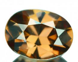 ~GLITTERING~2.34 Cts Natural Peachy Zircon Oval Custom Cut Tanzania