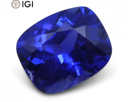 1.46ct Vivid Blue Sapphire Cushion GIA Certified Unheated, Sri Lanka