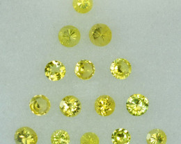 1.01 Cts Natural Canary Yellow Tourmaline 2.60mm  Round  Parcel Mozambique