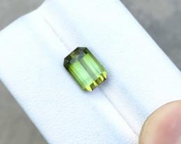 2.70 Ct Natural Green Transparent Tourmaline  Ring Size Gemstone
