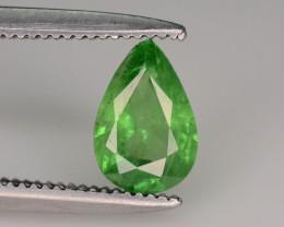 Pear Shape 0.65 ct Green Tsavorite Garnet