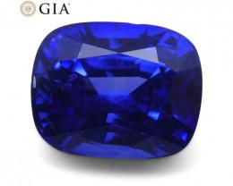 Vivid Cornflower Blue Sapphire 3.03ct Cushion GIA Certified