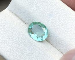 1.20 Ct Natural Greenish Transparent Tourmaline Gemstone