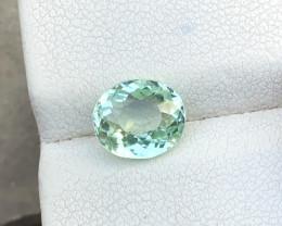 1.90 Ct Natural Greenish Transparent Tourmaline Ring Size Gemstone