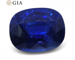 Royal Blue Sapphire 5.86ct Cushion GIA Certified Ethiopian Unheated with In