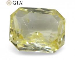 1.25 ct Octagonal Sapphire GIA Certified Sri Lankan Unheated