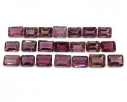 21.57 ct Pink Tourmaline Emerald Cut Wholesale Lot