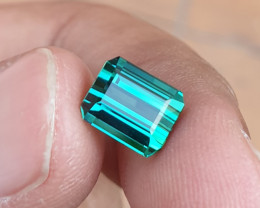 UNHEATED 3.23 CTS HIGH END QUALITY VVS BLUISH GREEN TOURMALINE MOZAMBIQUE