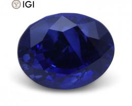 2.52 ct Oval Blue Sapphire IGI Certified