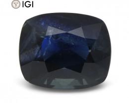 8.96 ct Blue Sapphire Cushion IGI Certified Ethiopian, Unheated