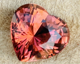 9.00 Pinkish orange tourmaline,  No Treatments.