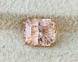 4.47 ct Pinkish Orange Tourmaline.  No Treatments.